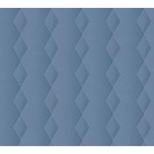 AS Création Vliestapete Life 4 Tapete blau metallic 356923 10,05 m x 0,53 m