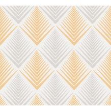 AS Création Vliestapete Life 4 Tapete creme grau orange 356061 10,05 m x 0,53 m