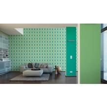 AS Création Vliestapete Life 4 Tapete creme grün 10,05 m x 0,53 m