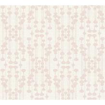 AS Création Vliestapete Life 4 Tapete metallic rosa weiß 356901 10,05 m x 0,53 m