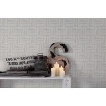 AS Création Vliestapete Linen Style Tapete beige grau weiß 10,05 m x 0,53 m