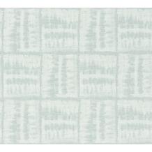 AS Création Vliestapete Linen Style Tapete blau weiß 366373 10,05 m x 0,53 m