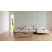 AS Création Vliestapete Linen Style Tapete blau weiß 10,05 m x 0,53 m