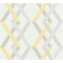 AS Création Vliestapete Linen Style Tapete geometrisch grafisch beige gelb grau 367592 10,05 m x 0,53 m
