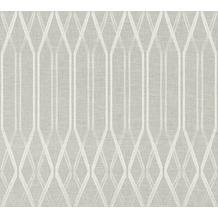 AS Création Vliestapete Linen Style Tapete geometrisch grafisch beige grau weiß 366322 10,05 m x 0,53 m