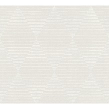 AS Création Vliestapete Linen Style Tapete geometrisch grafisch beige grau weiß 367571 10,05 m x 0,53 m