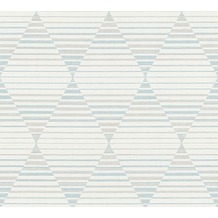 AS Création Vliestapete Linen Style Tapete geometrisch grafisch beige grau weiß 367572 10,05 m x 0,53 m