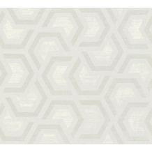 AS Création Vliestapete Linen Style Tapete geometrisch grafisch beige grau weiß 367604 10,05 m x 0,53 m