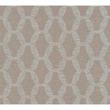 AS Création Vliestapete Linen Style Tapete geometrisch grafisch blau braun 366381 10,05 m x 0,53 m