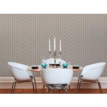 AS Création Vliestapete Linen Style Tapete geometrisch grafisch blau braun 10,05 m x 0,53 m