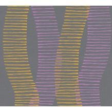 AS Création Vliestapete Linen Style Tapete geometrisch grafisch orange schwarz lila 367583 10,05 m x 0,53 m