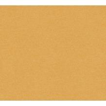 AS Création Vliestapete Linen Style Tapete Uni braun orange 367618 10,05 m x 0,53 m