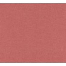 AS Création Vliestapete Linen Style Tapete Uni rot 366351 10,05 m x 0,53 m