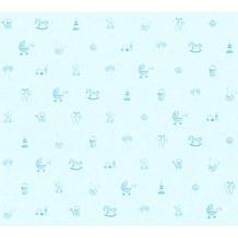 AS Création Vliestapete Little Stars Ökotapete PVC-frei blau 358542