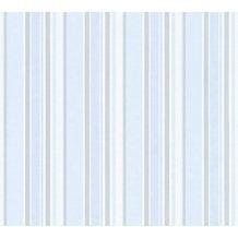 AS Création Vliestapete Little Stars Ökotapete PVC-frei blau metallic weiß 358493 10,05 m x 0,53 m