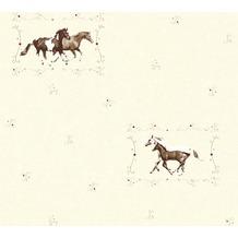 AS Création Vliestapete Little Stars Ökotapete PVC-frei bunt creme 358372 10,05 m x 0,53 m
