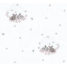 AS Création Vliestapete Little Stars Ökotapete PVC-frei bunt grau 355642
