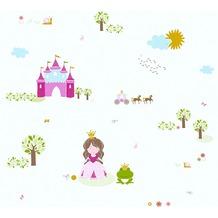 AS Création Vliestapete Little Stars Ökotapete PVC-frei bunt weiß 358522 10,05 m x 0,53 m