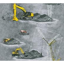 AS Création Vliestapete Little Stars Ökotapete PVC-frei gelb grau schwarz 358702 10,05 m x 0,53 m