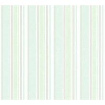 AS Création Vliestapete Little Stars Ökotapete PVC-frei grün metallic weiß 358491 10,05 m x 0,53 m