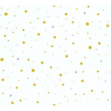 AS Création Vliestapete Little Stars Ökotapete PVC-frei metallic weiß 358392 10,05 m x 0,53 m