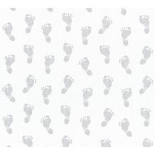 AS Création Vliestapete Little Stars Ökotapete PVC-frei metallic weiß 358631 10,05 m x 0,53 m