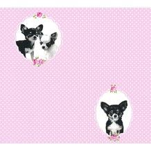AS Création Vliestapete Little Stars Ökotapete PVC-frei rosa schwarz 358511 10,05 m x 0,53 m