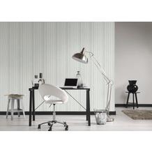 AS Création Vliestapete Materials Tapete grau weiß 10,05 m x 0,53 m