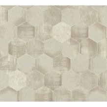 AS Création Vliestapete Materials Tapete in grafischer Vintage Optik beige metallic 363301 10,05 m x 0,53 m