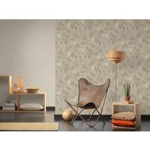AS Création Vliestapete Materials Tapete in grafischer Vintage Optik beige metallic 10,05 m x 0,53 m