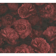 AS Création Vliestapete Neue Bude 2.0 Edition 2 Romantic Flowery rot schwarz 374024 10,05 m x 0,53 m