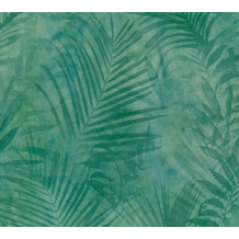 AS Création Vliestapete Neue Bude 2.0 Edition 2 Tropical Concret grün blau gelb 374112 10,05 m x 0,53 m