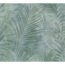 AS Création Vliestapete Neue Bude 2.0 Edition 2 Tropical Concret grün grau 374111 10,05 m x 0,53 m