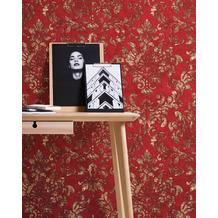 AS Création Vliestapete Neue Bude 2.0 Edition 2 Tapete Used Glam mit Ornamenten barock rot metallic 10,05 m x 0,53 m