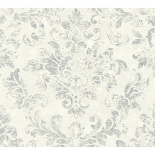 AS Création Vliestapete Neue Bude 2.0 Edition 2 Used Glam barock weiß grau metallic 374134 10,05 m x 0,53 m