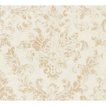 AS Création Vliestapete Neue Bude 2.0 Edition 2 Used Glam barock weiß grau metallic 374135 10,05 m x 0,53 m