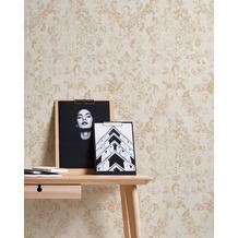 AS Création Vliestapete Neue Bude 2.0 Edition 2 Tapete Used Glam mit Ornamenten barock weiß grau metallic 10,05 m x 0,53 m