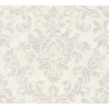 AS Création Vliestapete Neue Bude 2.0 Edition 2 Used Glam barock weiß grau rosa 374133 10,05 m x 0,53 m