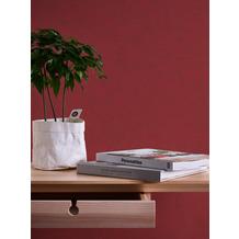 AS Création Vliestapete Neue Bude 2.0 Edition 2 Tapete Used Glam Vintage Uni Optik rot 10,05 m x 0,53 m