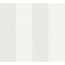 AS Création Vliestapete New Elegance Blockstreifentapete creme beige weiß 375541 10,05 m x 0,53 m
