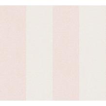 AS Création Vliestapete New Elegance Blockstreifentapete creme rosa 375542 10,05 m x 0,53 m