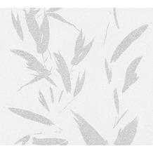 AS Création Vliestapete New Elegance Palmentapete creme grau metallic 375494 10,05 m x 0,53 m