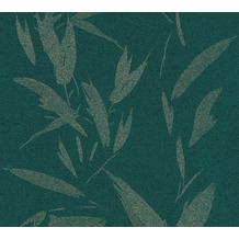 AS Création Vliestapete New Elegance Palmentapete grün metallic 375491 10,05 m x 0,53 m