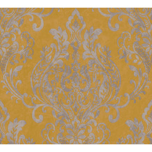 AS Création Vliestapete New Life Barocktapete gelb grau metallic 376812 10,05 m x 0,53 m