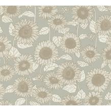AS Création Vliestapete New Life Blumentapete beige grau creme 376852 10,05 m x 0,53 m