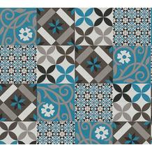 AS Création Vliestapete New Life Fliesentapete schwarz blau anthrazit creme weiß 376842 10,05 m x 0,53 m