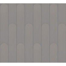AS Création Vliestapete New Life geometrische Tapete anthrazit beige 376782 10,05 m x 0,53 m