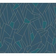 AS Création Vliestapete New Life geometrische Tapete blau petrol beige 376772 10,05 m x 0,53 m