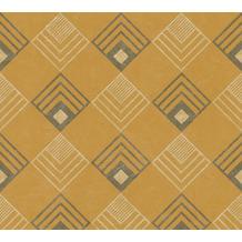 AS Création Vliestapete New Life geometrische Tapete ocker gelb beige grau 376821 10,05 m x 0,53 m