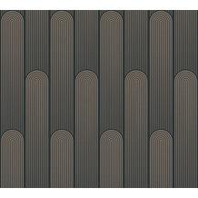 AS Création Vliestapete New Life geometrische Tapete schwarz beige 376783 10,05 m x 0,53 m